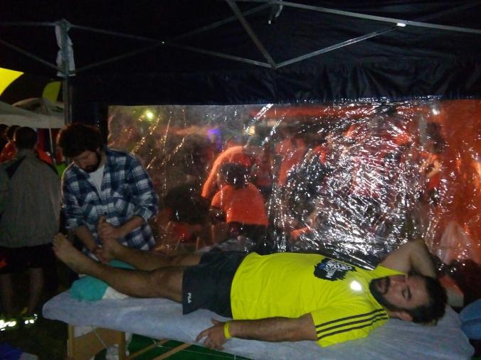 Na tenda aconteceram sessões de Reik e Reflexologia Podal.